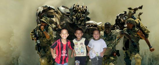 Anak-anaku didalam cerita transformers